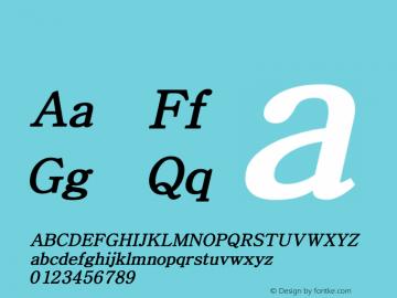 系统字体 半粗斜体 Version 1.00 October 18, 2015, initial release Font Sample