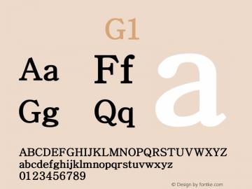 系统字体 粗体 G1 Version 1.00 October 18, 2015, initial release Font Sample