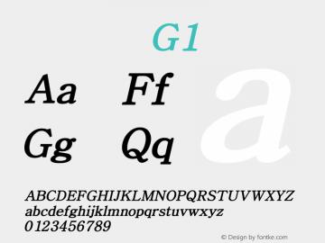系统字体 粗斜体 G1 Version 1.00 October 18, 2015, initial release Font Sample