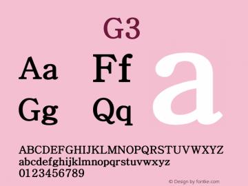 系统字体 粗体 G3 Version 1.00 October 18, 2015, initial release Font Sample