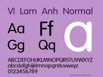 VI Lam Anh Normal 1.0 Thu Oct 14 14:41:33 1993 Font Sample