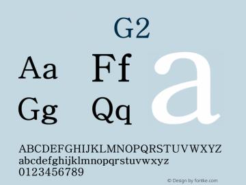 系统字体 常规体 G2 Version 1.00 October 18, 2015, initial release Font Sample