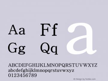 系统字体 常规体 Version 1.00 October 18, 2015, initial release Font Sample