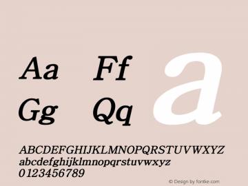 系统字体 中等斜体 Version 1.00 October 18, 2015, initial release Font Sample