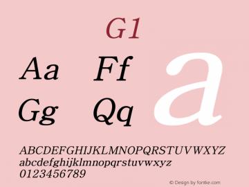 系统字体 斜体 G1 Version 1.00 October 18, 2015, initial release Font Sample