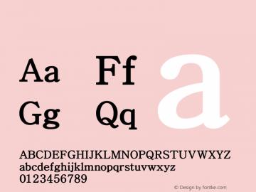 系统字体 中等体 Version 1.00 October 18, 2015, initial release Font Sample