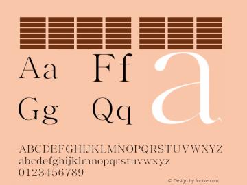 系统字体 超细体 Version 1.00 October 18, 2015, initial release Font Sample