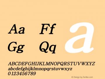 系统字体 粗斜体 Version 1.00 October 18, 2015, initial release Font Sample