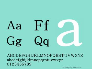 系统字体 细体 Version 1.00 October 18, 2015, initial release Font Sample