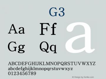 系统字体 常规体 G3 Version 1.00 October 18, 2015, initial release Font Sample