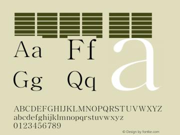 系统字体 瘦体 Version 1.00 October 18, 2015, initial release Font Sample