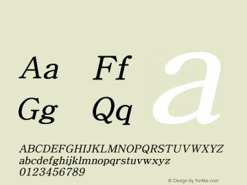 系统字体 细斜体 Version 1.00 October 18, 2015, initial release Font Sample