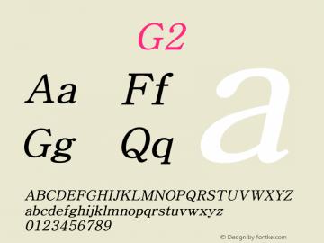 系统字体 斜体 G2 Version 1.00 October 18, 2015, initial release Font Sample