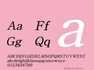 系统字体 斜体 Version 1.00 October 18, 2015, initial release Font Sample