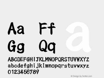 系统字体 粗体 11.0d44e1 Font Sample