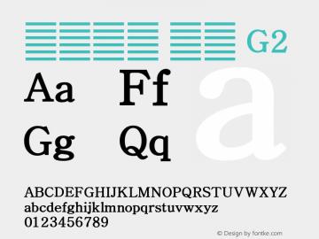 系统字体 粗体 G2 11.0d59e1 Font Sample