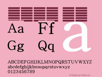 系统字体 细体 11.0d59e1 Font Sample