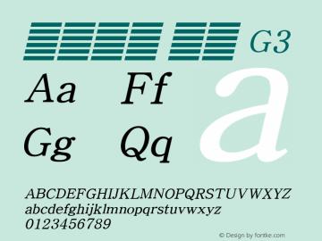 系统字体 斜体 G3 11.0d59e1 Font Sample