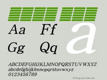 系统字体 细斜体 11.0d59e1 Font Sample