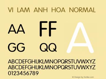 VI Lam Anh Hoa Normal 1.0 Thu Oct 14 14:43:02 1993 Font Sample