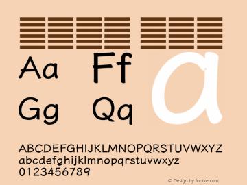 系统字体 中等体 11.0d59e1 Font Sample