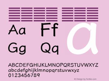 系统字体 半粗体 11.0d59e1 Font Sample
