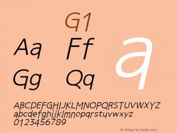 系统字体 斜体 G1 11.0d59e1 Font Sample