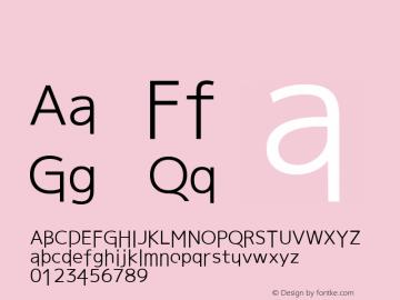 系统字体 粗体 11.0d59e1 Font Sample