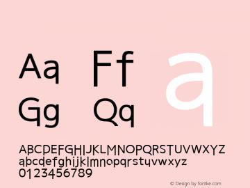 系统字体 中等体 11.0d44e1 Font Sample