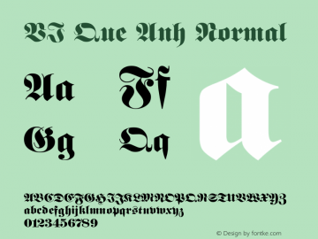 VI Que Anh Normal 1.0 Thu Oct 14 14:44:35 1993 Font Sample