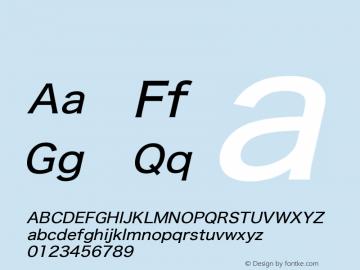 系统字体 中等斜体 11.0d59e1 Font Sample