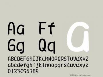 系统字体 常规体 11.0d44e1 Font Sample