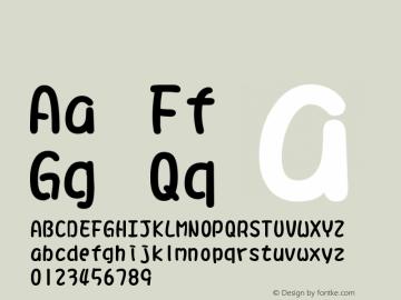 系统字体 半粗体 11.0d44e1 Font Sample