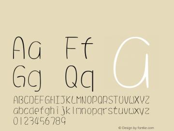 系统字体 超细体 11.0d44e1 Font Sample