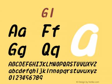 系统字体 粗斜体 G1 11.0d59e1 Font Sample