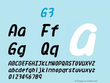系统字体 粗斜体 G3 11.0d59e1 Font Sample