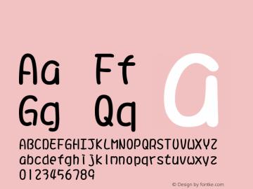 系统字体 常规体 11.0d59e1 Font Sample