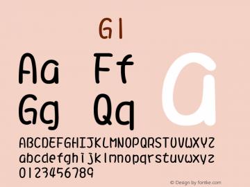 系统字体 常规体 G1 11.0d59e1 Font Sample