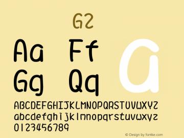 系统字体 常规体 G2 11.0d59e1 Font Sample