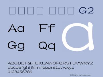 系统字体 粗斜体 G2 11.0d59e1 Font Sample