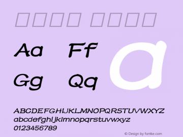 系统字体 半粗斜体 11.0d59e1 Font Sample