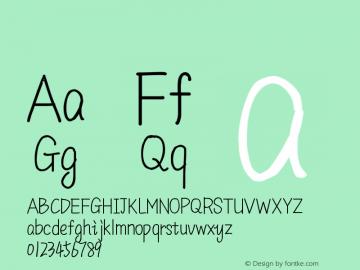 系统字体 瘦体 11.0d44e1 Font Sample