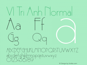VI Tri Anh Normal 1.0 Thu Oct 14 14:48:30 1993 Font Sample