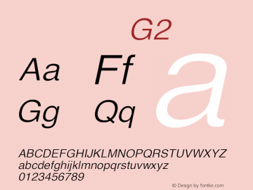 系统字体 斜体 G2 11.0d59e1 Font Sample