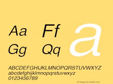 系统字体 斜体 11.0d59e1 Font Sample