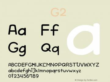系统字体 粗斜体 G2 Version 1.00 October 19, 2015, initial release Font Sample
