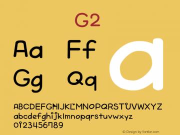 系统字体 粗体 G2 Version 1.00 October 19, 2015, initial release Font Sample