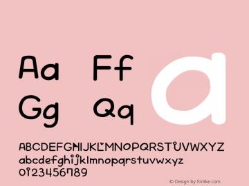 系统字体 中等斜体 Version 1.00 October 19, 2015, initial release Font Sample