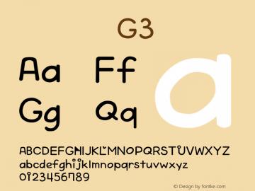 系统字体 粗斜体 G3 Version 1.00 October 19, 2015, initial release Font Sample