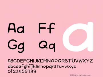 系统字体 粗体 Version 1.00 October 19, 2015, initial release Font Sample